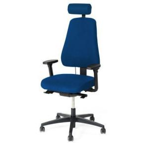 Kontorsstol LANAB LD6340 Multisynkron, blå textil, svankstöd