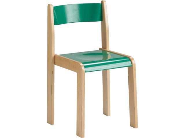 Barnstol Kulör Grön, sitthöjd 30cm