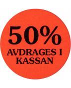 Etikett 50% avdrages i kassan