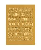 Herma etikett bokstäver A-Z 12mm guld