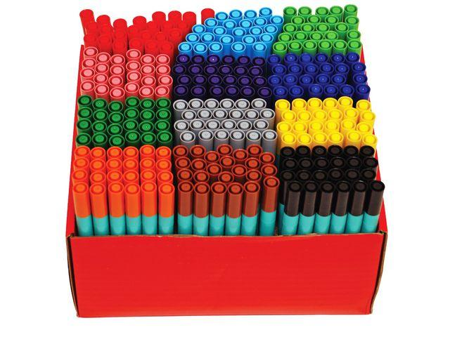 Fiberpenna BEROL Colourfine, 12 färger, 288/fp