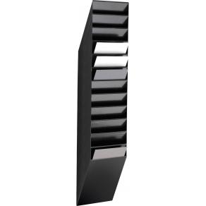 Blankettfack Durable Flexiboxx Svart, A4S, 12 fack