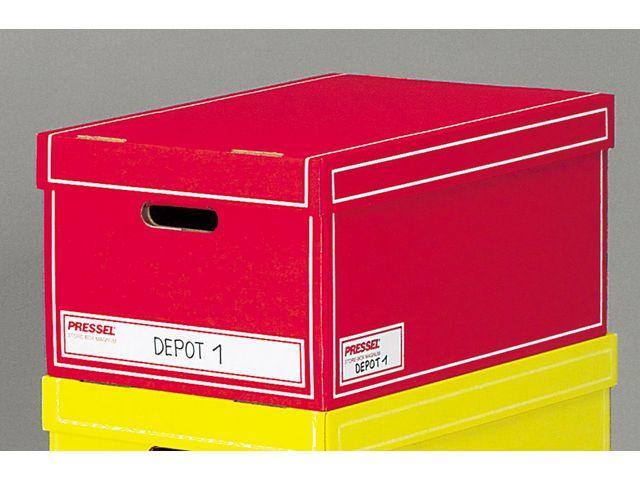 Arkivbox med lock A4 350x255x155mm, Röd, 10st