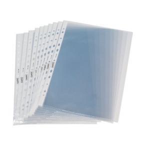 Plastficka transparent A4 0,05 präglad 100/FP