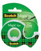 Dokumenttejp Scotch Magic 810 + Hållare, osynlig, 19mm x 7,5m