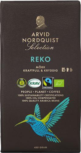 Kaffe Arvid Nordquist Selection Reko Mörkrost, KRAV, 500g