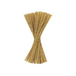Piprensare Glitter Guld, 30cm, 100/fp