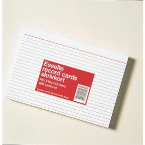 Skrivkort A5L, linjerat, 100/fp