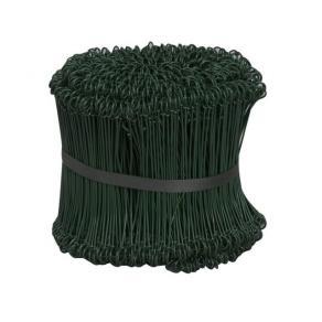 Säcktråd plastad grön 15 cm lång, 1000/fp