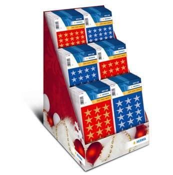 HERMA Stickers Decor julstjärnor 80/Dis.