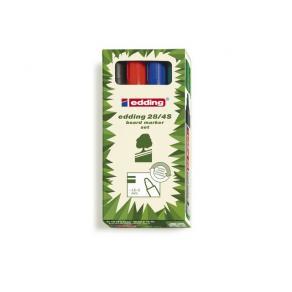 Whiteboardpenna EDDING 28, konisk, 4 färger/fp