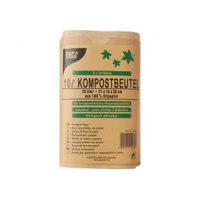 Kompostpåse PURE 10L brun 50/FP