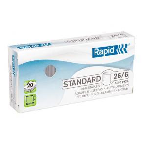 Häftklammer Rapid 26/6 Standard, 20ark, 5000/fp