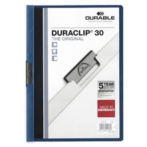 Klämmapp DURABLE Duraclip A4 Blå, 30 blad