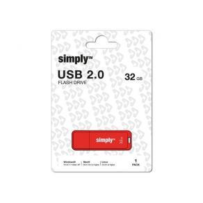USB-Minne SIMPLY USB 2.0 32GB Cap