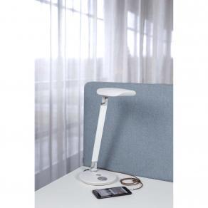 Bordslampa USB LED vit