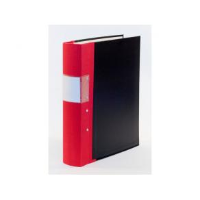 Gaffelpärm A4 Trärygg Röd, 60mm