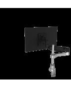 R-Go Caparo 4 Monitor Arm, gas spring, 3-9 kg, dynamic, silver