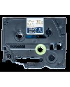 Brother TZeR tape 12mm x 4m gold on dark blue