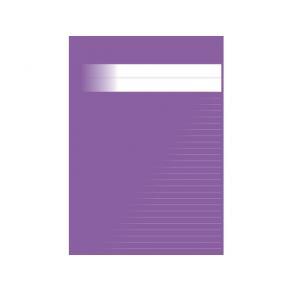 Skrivhäfte A4 linjerat 8,5mm lila