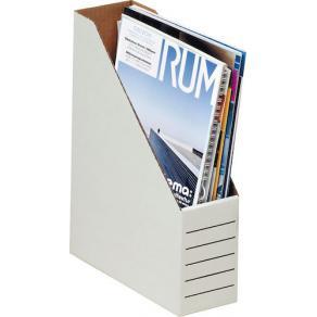 Tidskriftsamlare A4 Vit, wellkartong, 80x220x300mm