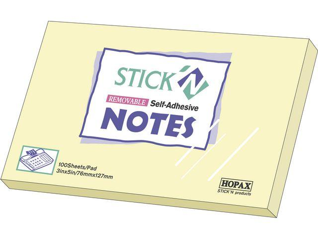 Notis Stick'n Notes Gul, 76x127mm, 12st 12st