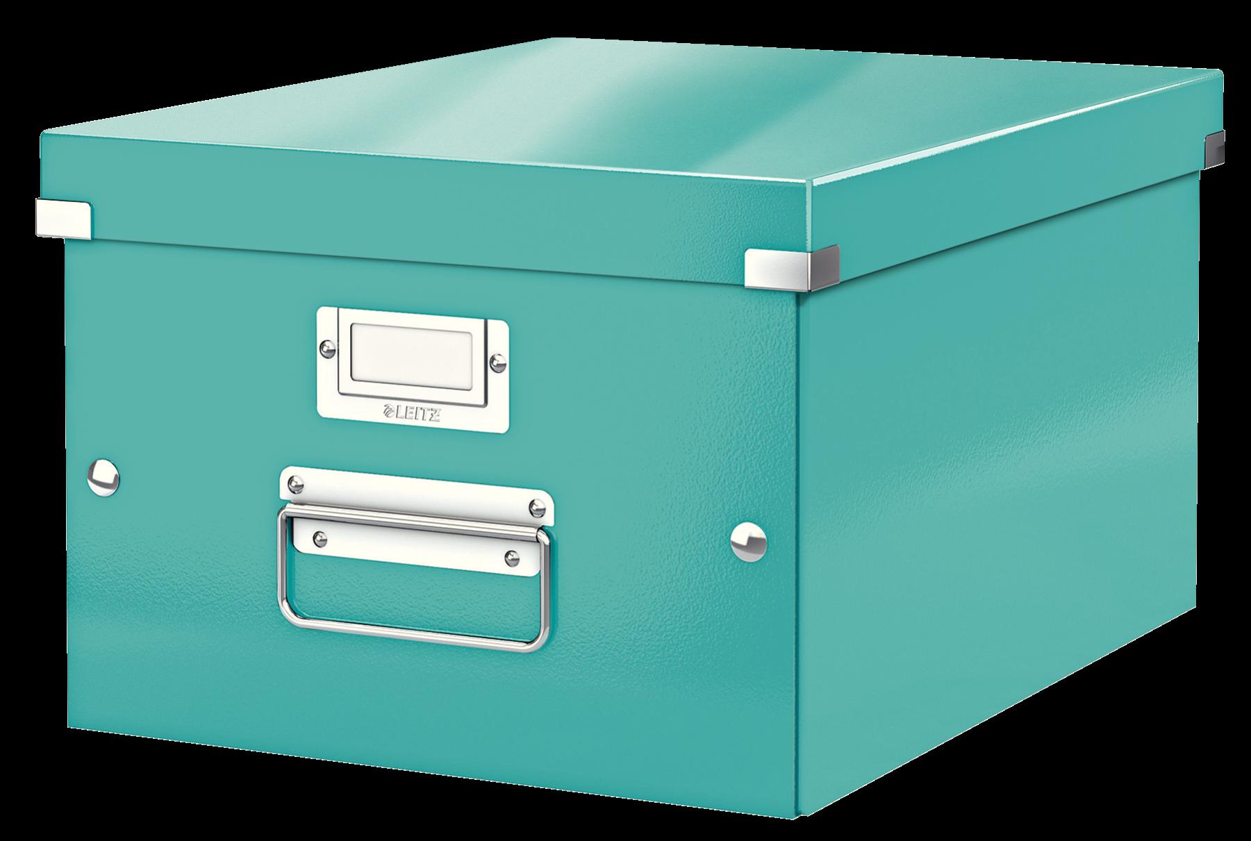 Förvaringslåda Medium Click & Store WOW Isblå, 6st 6st