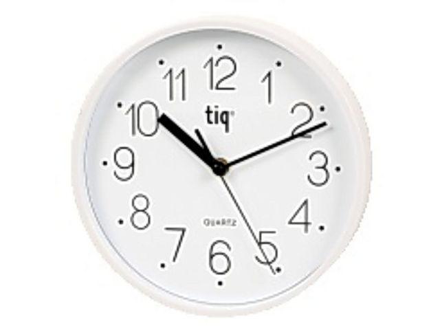 Väggklocka Tiq Silver, glaslins, Ø 22,5cm