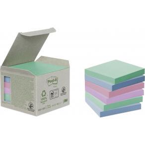 Notes POST-IT 100% recyc 76x76mmpast6/F