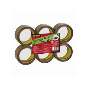Packtejp SCOTCH 309 Brun, PP/akryl, tystavrullad, 50mm x 66m, 6/fp