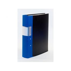 Gaffelpärm A4 Trärygg Blå, 60mm