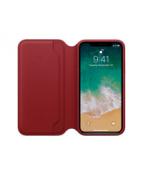 Apple (PRODUCT) RED - Vikbart fodral för mobiltelefon - läder