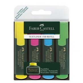 Överstrykningspenna FABER-CASTELL Textliner 48, 4-pack