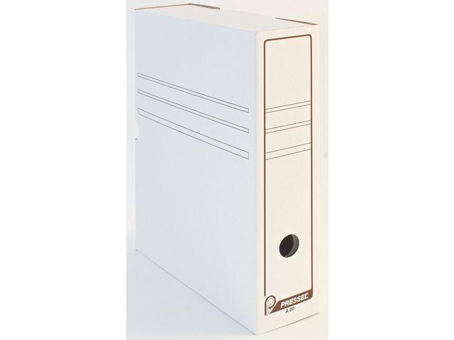 Arkivbox A4 topp öppning 80mm, vit, 50st