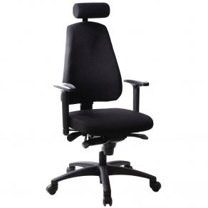 Kontorsstol LANAB LD6340 Multisynkron, svart textil, svankstöd