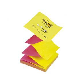 Notes POST-IT Z-block 76x76mm gul/rosa, 6st