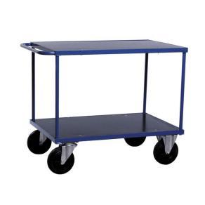 Bordsvagn Blå, för utomhusbruk, 2 hyllplan