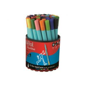 Fiberpenna BEROL Colourfine, 12 färger, 42/burk