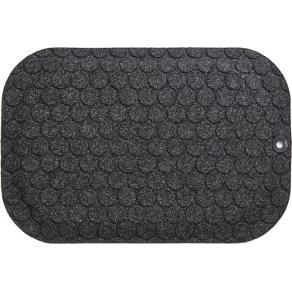 Ståmatta StandUp Circle 53x77cm, textil svart