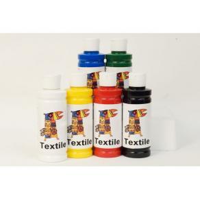 Textilfärg, 250ml x 6 färger