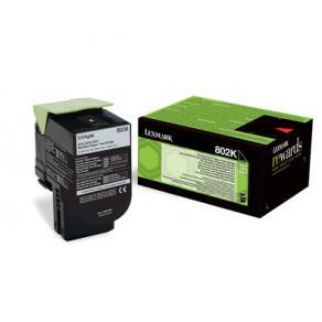 Lexmark 802K - Svart - original - tonerkassett