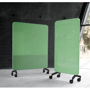 Skrivtavla Lintex Mobile Fabric, 1500x1960mm, Grön, svart stativ