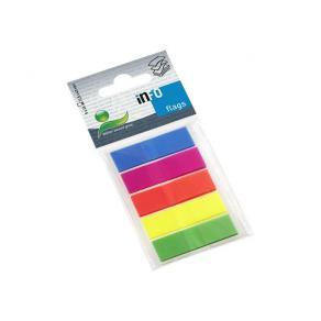 Index INFO NOTES 43x12mm 5 färger plast