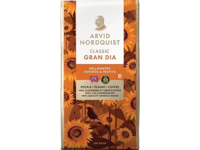 Kaffe Arvid Nordquist Classic Gran Dia Mellanmörk, 500g 12st