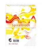 Spiralblock A6 100 blad rutat