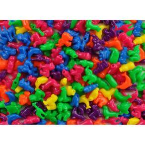 Plastpärlor Djur, med stora hål, 250/fp