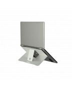 R-Go Riser Attachable Laptop Stand, adjustable, silver