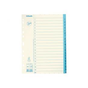 Pärmregister JOPA Papper A4 1-20, blå flik, 10st
