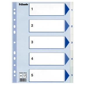 Register Non-Stop A4/1-5 rubrikblad vit