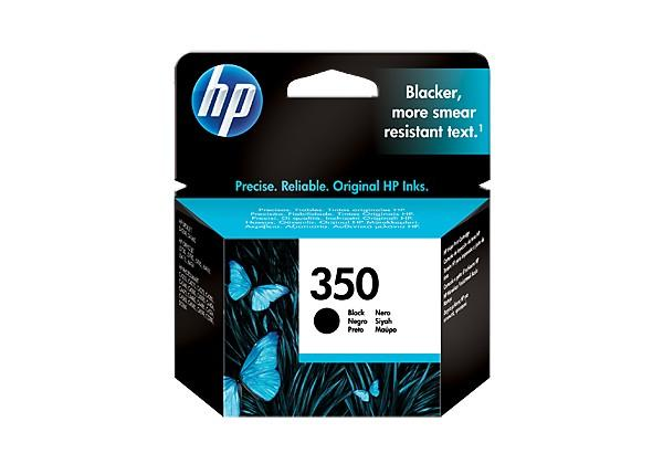 HP 350 - 4.5 ml - svart - original - bläckpatron - för Officejet